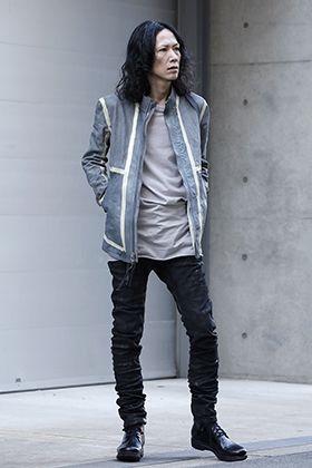 Boris Bidjan Saberi Spray Dye Reversible Leather Jacket Style