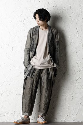 ZIGGY CHEN 20SS  Used Paper Print Set Up Suit Style