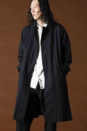 suzusan 4-Pockets Spring Long Coat Black