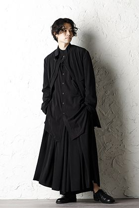 Yohji Yamamoto 20ss Tuxedo HAKAMA pants Style