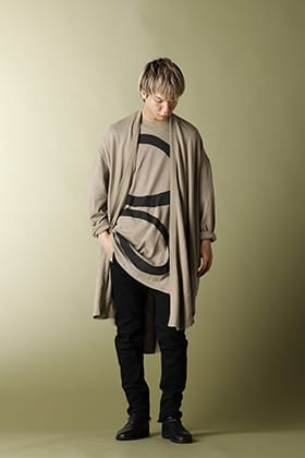 JULIUS Long cardigan SAND Styling!!