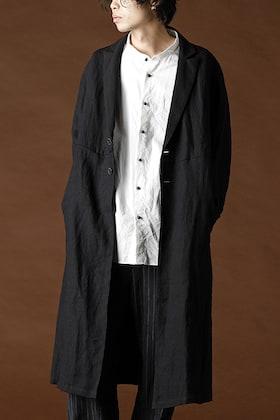 individual sentiments - Linen Herringborne Light Coat Black