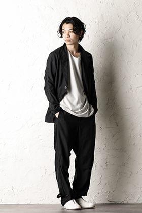 DEVOA:Silk / Cotton Jacket and Baggy Pants