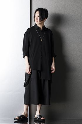 Ground Y Asymmetric Shirt Spring Summer Black Styling!!