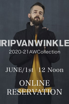 RIPVANWINKLE 2020 AW Collection Pre-orders from June 1st, 12 noon!