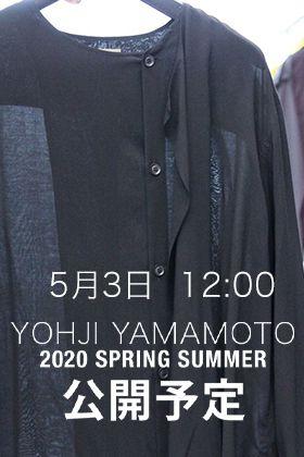 Yohji Yamamotoの新作アイテムを5/3 12時より販売開始!