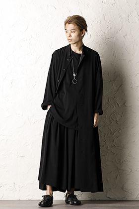 Yohji yamamoto 20SS Tuxedo Flare Stand dress Style