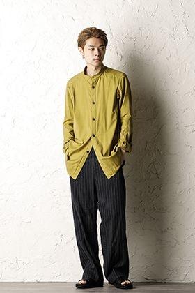 DEVOA 20SS Silk cotton Long Shirt × Baggy cropped pants