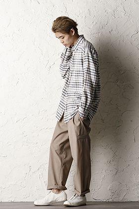 STEPHAN SCHNEIDER 20SS Linen Plaid Shirt Style