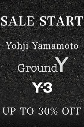 Yohji Yamamoto, Ground Y and  Y-3 will start selling now.