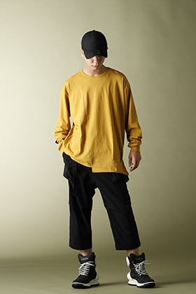 .LOGY Kyoto 20AW The Viridi-anne【Hem Layered Long Sleeve T-Shirts】Mustard STYLE!