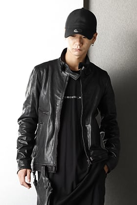 JULIUS 20-21AW Gunholder Leather jacket Styling