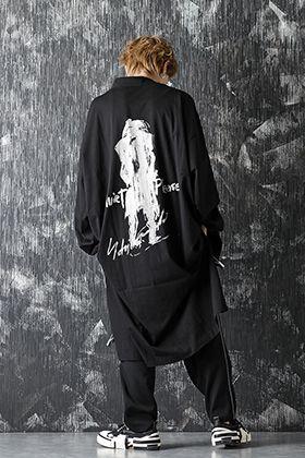 Yohji Yamamoto 20-21AW Asymmetry Message Print Cardigan Style