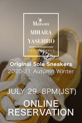 Maison MIHARAYAUSHIRO original sole sneakers additional reservation notice