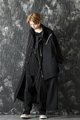 Yohji Yamamoto 20-21AW Army Gabardine Chain fastener Coat Style