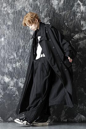 Yohji Yamamoto 20-21AW Wrinkled Gabardine Removable Coat Style