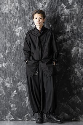 Yohji Yamamoto 20-21AW Long Collar Chain Stitch Shirt Style
