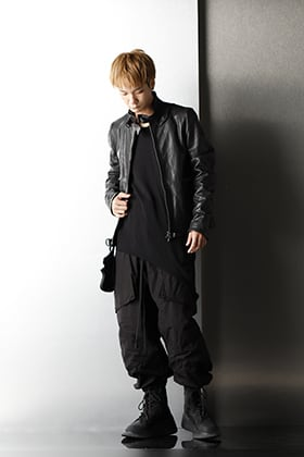 JULIUS 2020-21AW Black A-line Styling