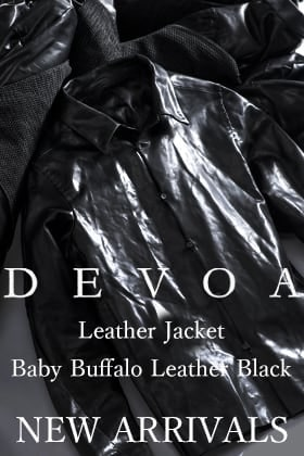 DEVOA 20-21AW Leather Jacket Baby Buffalo Leather New Arrivals