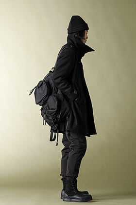 20AW The Viridi-anne Melton High-Neck Coat All Black Styling!!