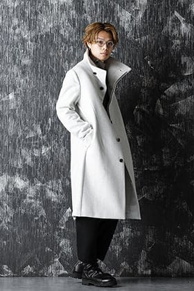individual sentiments 20-21AW Snow Gray Coat  Style