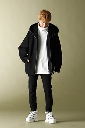 ATTACHMENT 2020-21AW Hooded half coat Styling