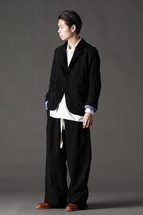 ANNASTESIA / RICORRROBE Strip Wool Overdyed 5-B Jacket Styling