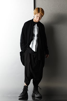 JULIUS 2020-21AW Black Loose silhouette Styling