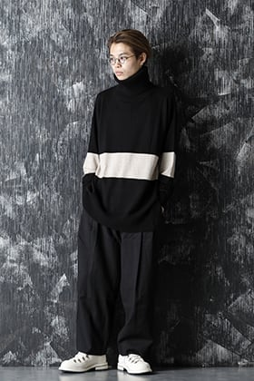 ZIGGY CHEN 20-21AW Baby Cashmare Bicolor KNIT Style