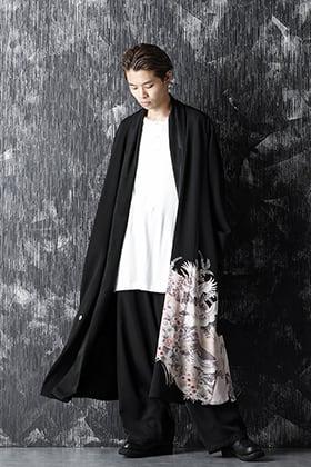RONDO 20-21AW Silk Georgette Crane HAORI Style