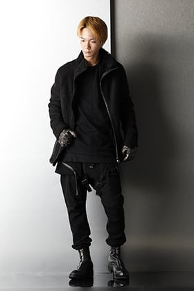 D.HYGEN Mouton Leather jacket Winter Black Styling