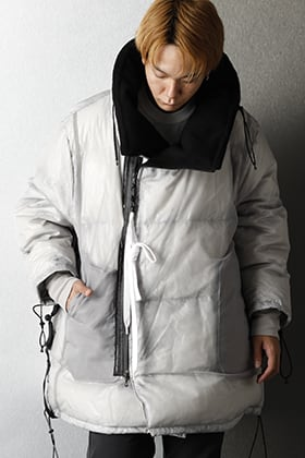 NILøS 2020-21AW TRANSPARENT DOWN COAT Winter Styiling