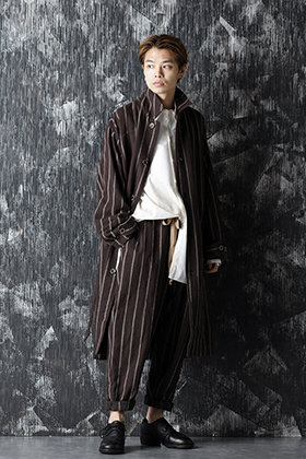 UMA WANG 20-21AW Stripe Coat and Pants Style