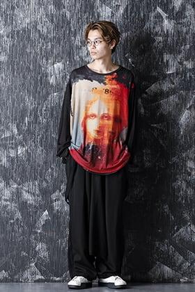 Yohji Yamamoto 20-21AW Round Neck Uchida Suzume Print T-shirt Style