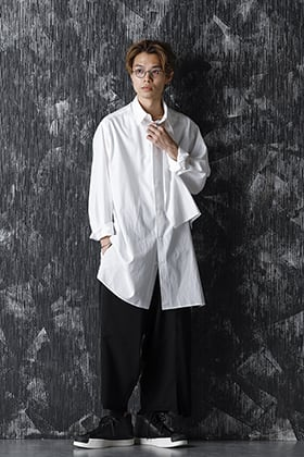 20-21AW Yohji Yamamoto No Fixing Broad Cloth Shirt style