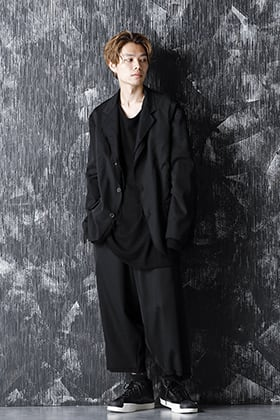 Yohji Yamamoto 20-21AW M-3BS Layered Jacket and Wrap Pants style