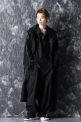 BYY 20-21AW Jump Suit x Knit Coat Style