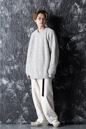 O project 20-21AW KNITTED CREW NECK  Natural Mere Style