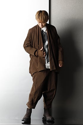 JULIUS 20-21AW Collection Uneven Brown Styling