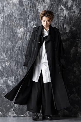 20-21AW Yohji Yamamoto Wrinkled Gabardine Removable Coat style