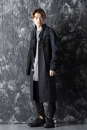 BORIS BIDJAN SABERI 20-21AW Work Coat 2 × Vest Bag