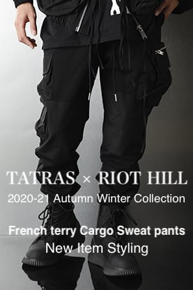 TATRAS × RIOT HILL New item【Sweat Cargo pants】Styling!!