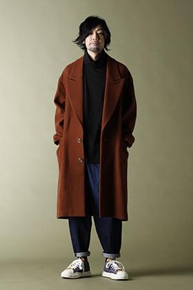220-21AW KAZUYUKI KUMAGAI【Napping melton Peakd lapel Overcoat】casual