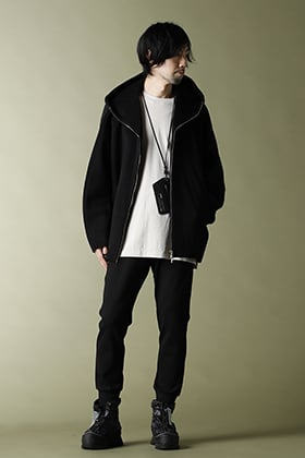 20-21AW ATTACHMENT【Beaver hooded half coat】Street style