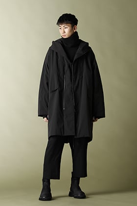The Viridi-anne【OLMETEX Batting coat】all Black Styling!!