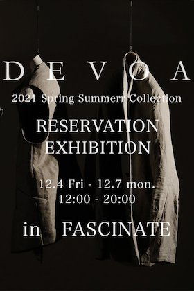 DEVOA 2021SS Collection Reservation Exhibition