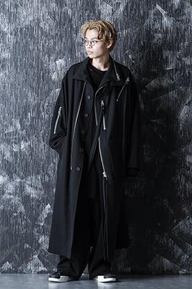 Yohji Yamamoto 20-21AW アーミー ギャバジン チェーンファスナーコートを使用したスタイル