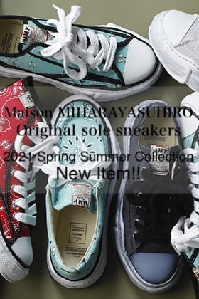 Maison MIHARAYASUHIRO 2021SS Collection【Original sole Sneakers】New Item!!