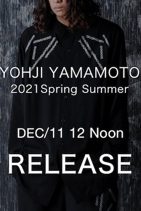 Yohji Yamamoto 2021 SS will be on sale from December 11th at 12 noon!