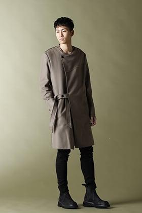 ASKYY - アスキー【BELTED COAT】Greysh Beige styling!!